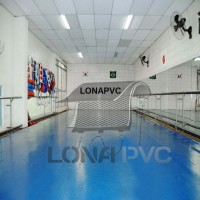 Lona Azul Claro PVC 15x1,57 m Premium Vinil para Toldo Tatame Ringue MMA Cobertura Academia Tenda Piso EVA Palco Eventos Festa