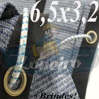 Lona 6,5 x 3,2m Tela PEAD Premium Caminhão ExtraForte Prata/Azul + 30 metros de corda 8mm + 90% de Sombreamento