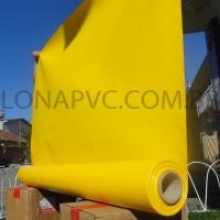 Lona Amarela PVC 15x1,57 m Premium Vinil para Toldo Tatame Ringue MMA Cobertura Academia Tenda Piso EVA Palco Eventos Festa