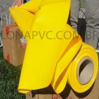 Lona Amarela PVC 30x1,57 m Premium Vinil para Toldo Tatame Ringue MMA Cobertura Academia Tenda Piso EVA Palco Eventos Festa