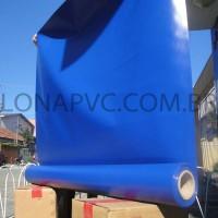 Lona Azul Royal PVC 15x1,57 m Premium Vinil para Toldo Tatame Ringue MMA Cobertura Academia Tenda Piso EVA Palco Eventos Festa