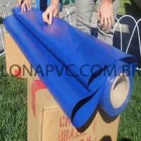 Lona Azul Royal PVC 30x1,57 m Premium Vinil para Toldo Tatame Ringue MMA Cobertura Academia Tenda Piso EVA Palco Eventos Festa