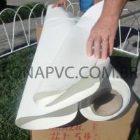Lona Branca PVC 30x1,57 m Premium Vinil para Toldo Tatame Ringue MMA Cobertura Academia Tenda Piso EVA Palco Eventos Festa