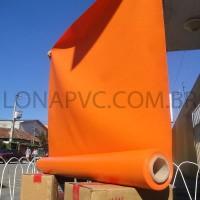 Lona Laranja PVC 15x1,57 m Premium Vinil para Toldo Tatame Ringue MMA Cobertura Academia Tenda Piso EVA Palco Eventos Festa