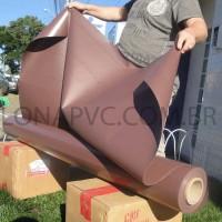Lona Marrom PVC 15x1,57 m Premium Vinil para Toldo Tatame Ringue MMA Cobertura Academia Tenda Piso EVA Palco Eventos Festa