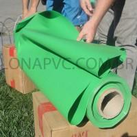 Lona Verde Claro PVC 30x1,57 m Premium Vinil para Toldo Tatame Ringue MMA Cobertura Academia Tenda Piso EVA Palco Eventos Festa