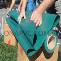 Lona Verde Escuro PVC 15x1,57 m Premium Vinil para Toldo Tatame Ringue MMA Cobertura Academia Tenda Piso EVA Palco Eventos Festa